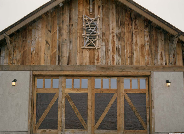 Custom Wood Garage Doors By Montana Rustics